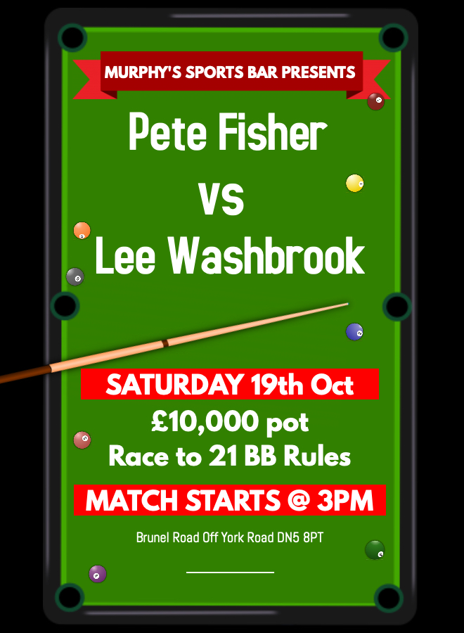 Pete Fisher v Lee Washbrook
