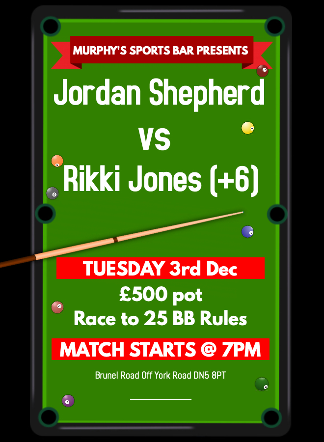 Jordan Shepherd v Rikki Jones (+6)