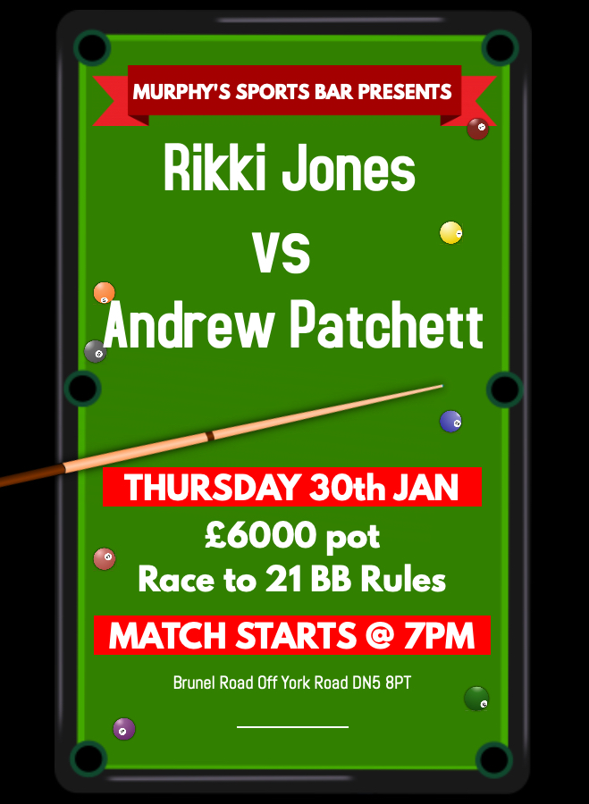 Rikki Jones v Andrew Patchett