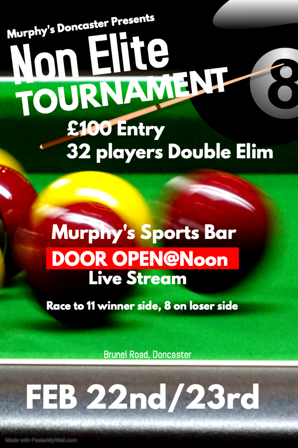 Murphys Non-Elite £100 Double Eliminatio